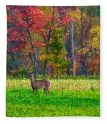Autumn Doe - Paint Fleece Blanket