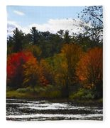 Autumn Dreaming Adwc Fleece Blanket