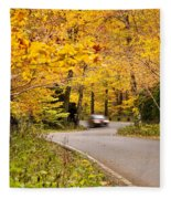 Autumn Drive Fleece Blanket
