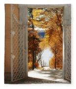 Autumn Entrance Fleece Blanket