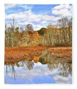 Autumn Fades Fleece Blanket