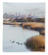Autumn Fall Fleece Blanket