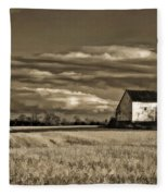 Autumn Farm II Fleece Blanket