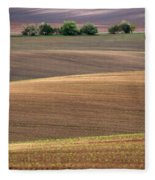 Autumn Fields Of Moravia Fleece Blanket