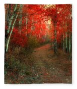 Autumn Fire Fleece Blanket