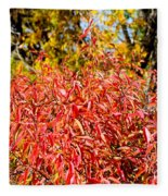 Autumn Flames Fleece Blanket