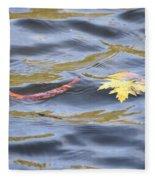 Autumn Floats Away Fleece Blanket