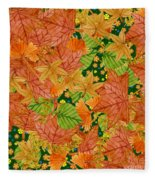 Autumn Floor Fleece Blanket