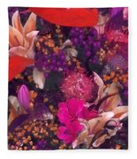 Autumn Flower Bouquet Fleece Blanket