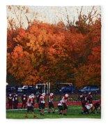Autumn Football With Sponge Painting Effect Fleece Blanket