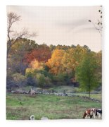 Autumn Forage Before Winter's Arrival Fleece Blanket