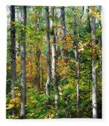 Autumn Forest Detail Fleece Blanket