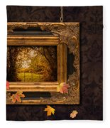 Autumn Frame Fleece Blanket