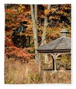Autumn Gazebo Fleece Blanket