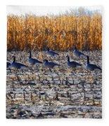 Autumn Geometry By Jrr Fleece Blanket