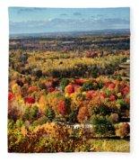 Autumn Glory Landscape Fleece Blanket