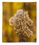 Autumn Goldenrod And A Poser Fleece Blanket