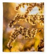 Autumn Goldenrod - Paint  Fleece Blanket