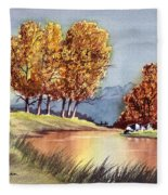 Autumn Golds Fleece Blanket