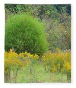 Autumn Grasslands Fleece Blanket