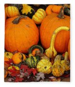 Autumn Harvest 5 Fleece Blanket