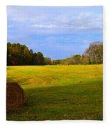 Autumn Hay 3 Fleece Blanket