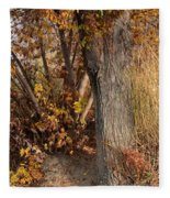 Autumn Hideaway Fleece Blanket