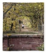 Autumn Hike On The C And O Canal Towpath At Seneca Creek Fleece Blanket