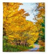 Autumn Hike - Paint Fleece Blanket