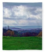 Autumn Horizon Fleece Blanket