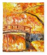 Autumn Impression Fleece Blanket