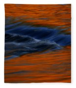 Autumn River Fleece Blanket