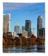 Autumn In Austin Fleece Blanket