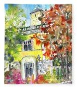 Autumn In Bergamo 02 Fleece Blanket