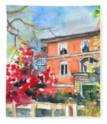 Autumn In Bergamo 01 Fleece Blanket