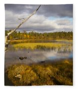 Autumn In Finland Near Inari Fleece Blanket