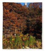Autumn In Gruene Fleece Blanket