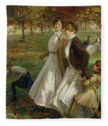 Autumn In Kensington Gardens Fleece Blanket