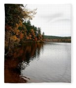 Autumn In Maine Fleece Blanket