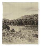 Autumn In Montana In Heirloom Finish Fleece Blanket