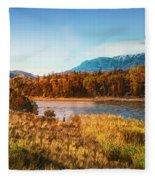 Autumn In Montana Fleece Blanket