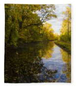 Autumn In Morrisville Pa Along The Delaware Canal Fleece Blanket