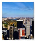 Autumn In New York City Fleece Blanket