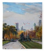 Autumn In Niagara Falls State Park Fleece Blanket