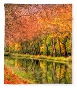 Autumn In Provence Fleece Blanket