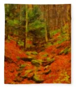 Autumn In Sproul State Forest Fleece Blanket