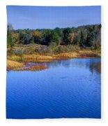 Autumn In The Adirondacks II Fleece Blanket