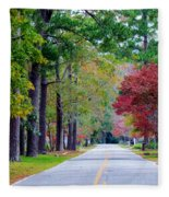 Autumn In The Air Fleece Blanket