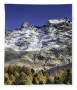 Autumn In The Alps 1 Fleece Blanket
