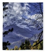 Autumn In The Alps 3 Fleece Blanket
